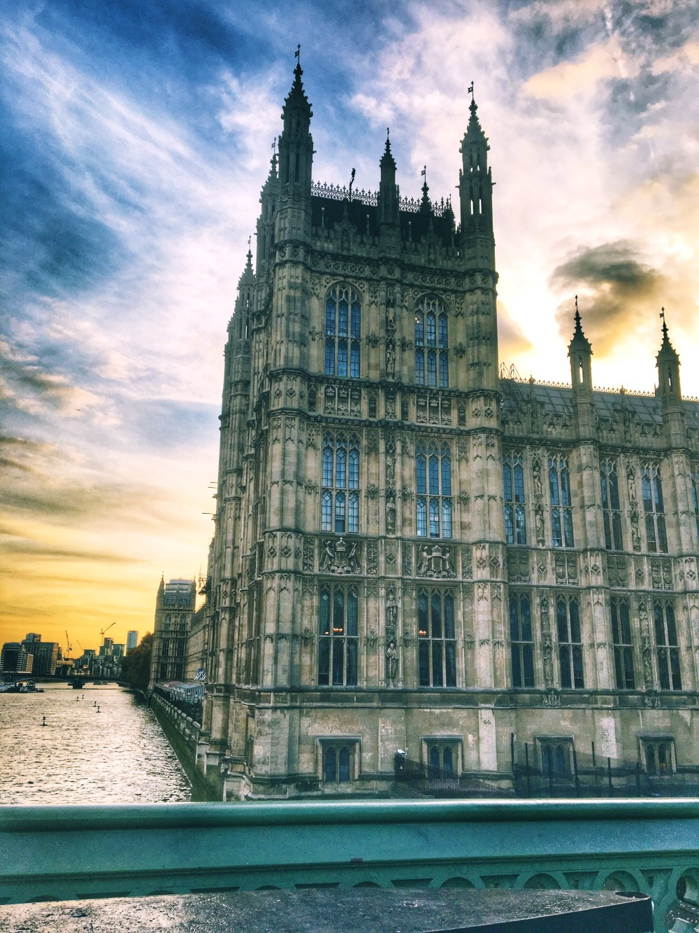 London Parliament along the Thames River
