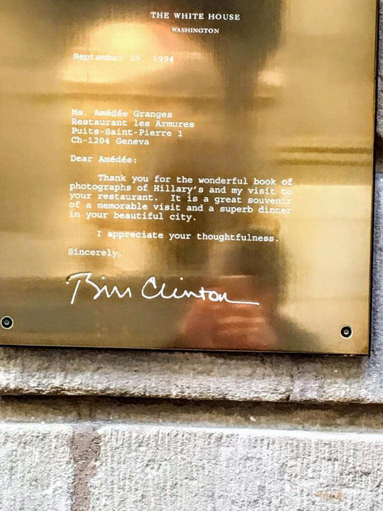 White House Letter from President Bill Clinton