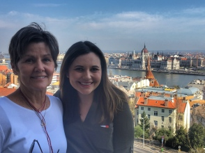 Overlooking the Danube with my mother-in-law