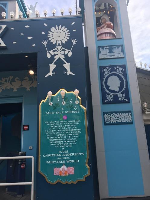 A plaque commemorating Hans Christian Andersen at Tivoli