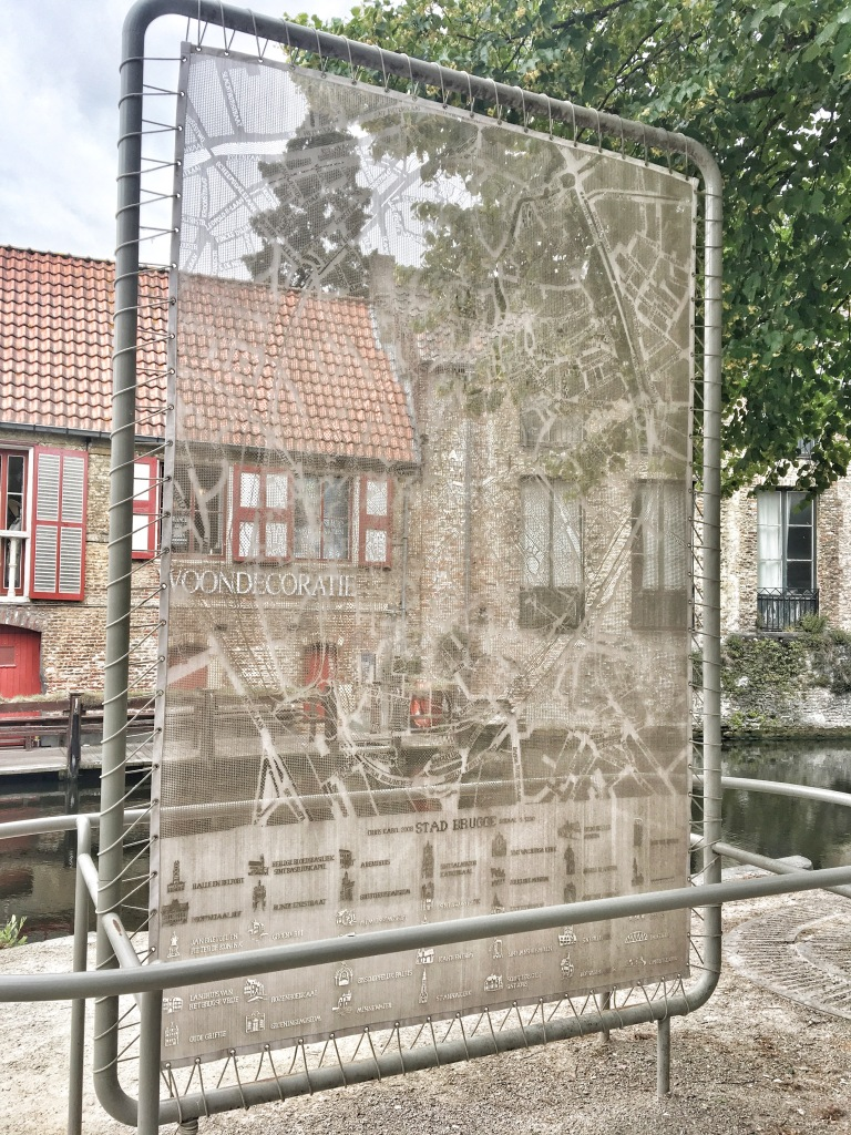Lace Map of Bruges