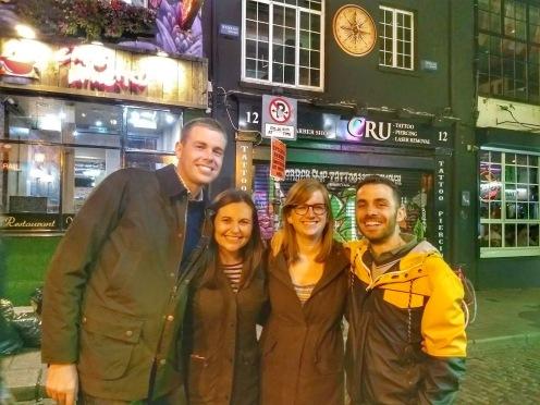 Nicole and Erin and boys in Dublin