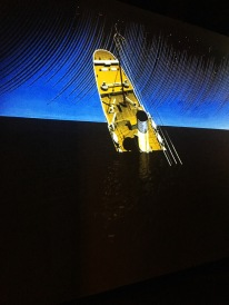 Animated footage of the sinking