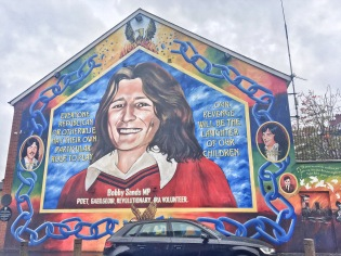 Bobby Sands - hero of the Republican side who died in a hunger strike