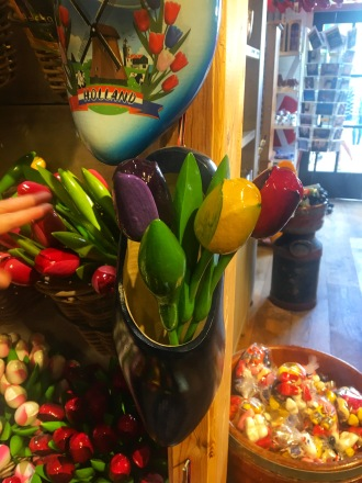 Tulips in clogs