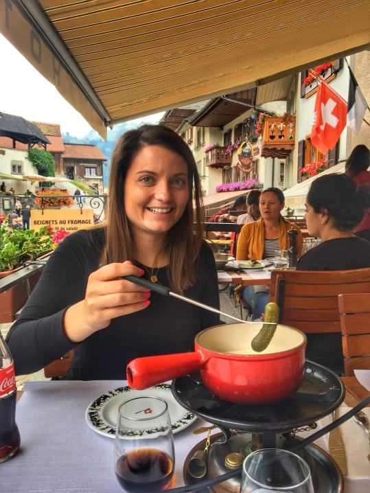 First fondue in Gruyeres!