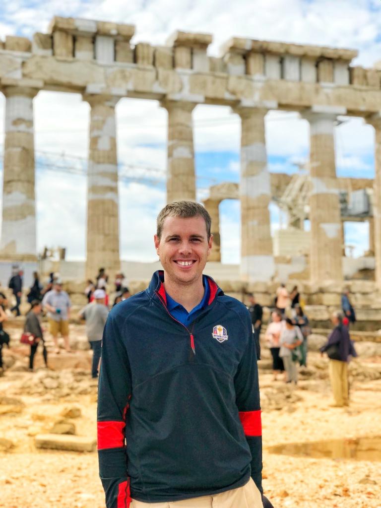 Posin at the Parthenon