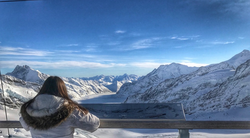 Nicole at the Top of Jungfraujoch