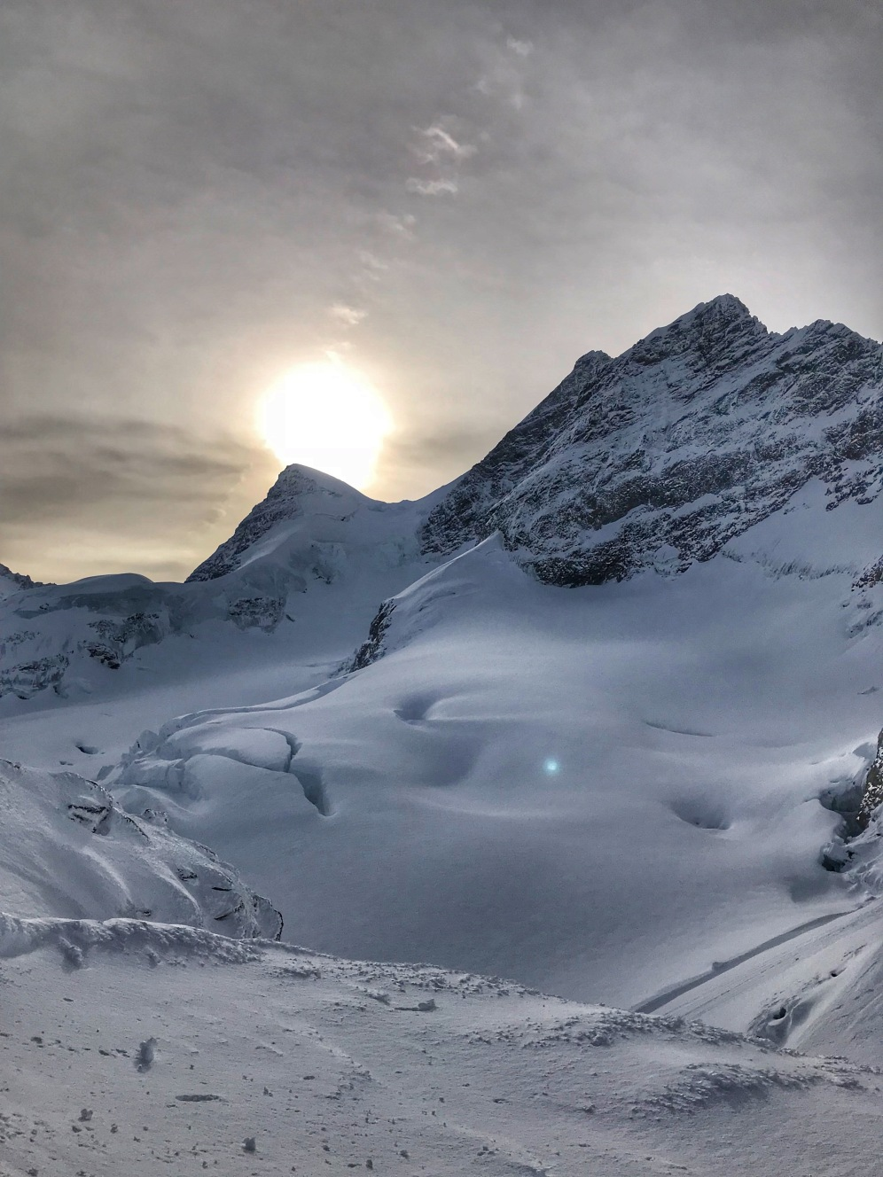 Sunset at Jungfraujoch