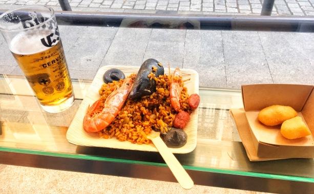 Paella at Mercado San Miguel
