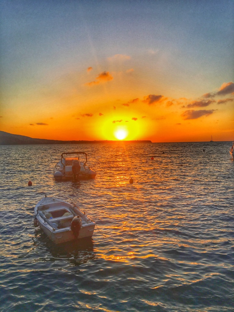 Sunset in Ammoudi Bay