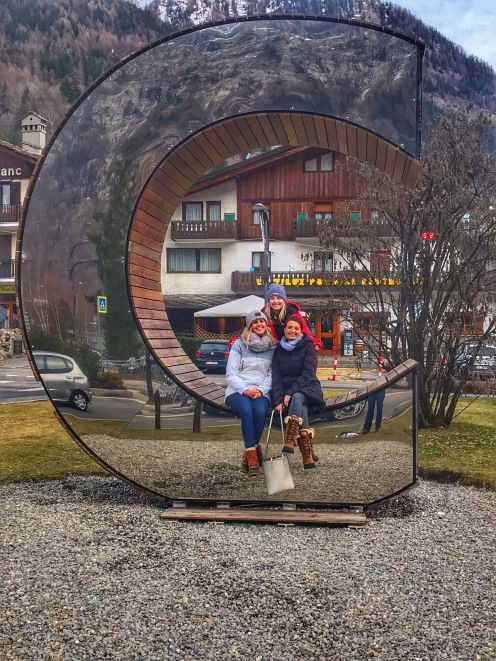 Sisters in Courmayeur