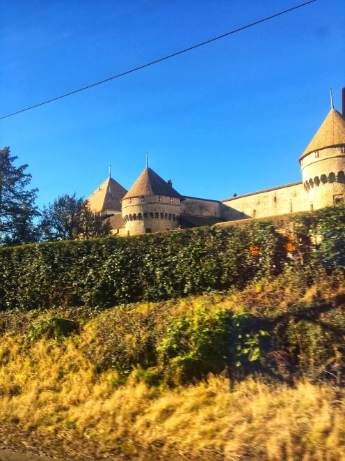 Chateau Chillon from train