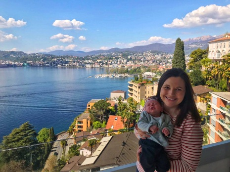 Mom and James in Lugano