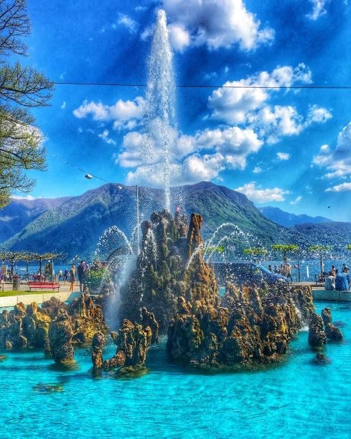 fountain in Lugano