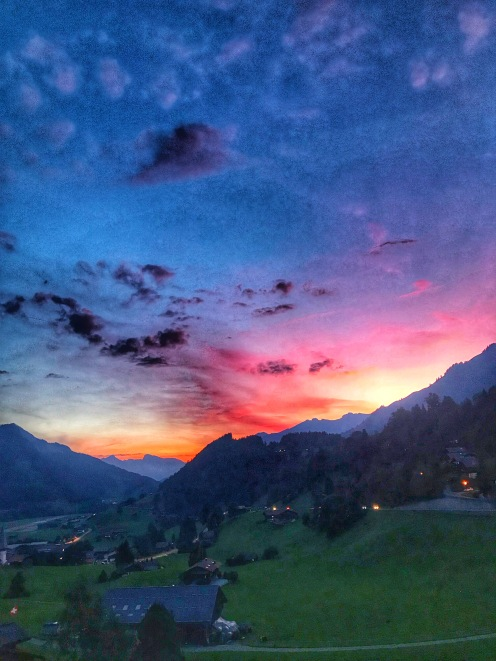 Gstaad sunset