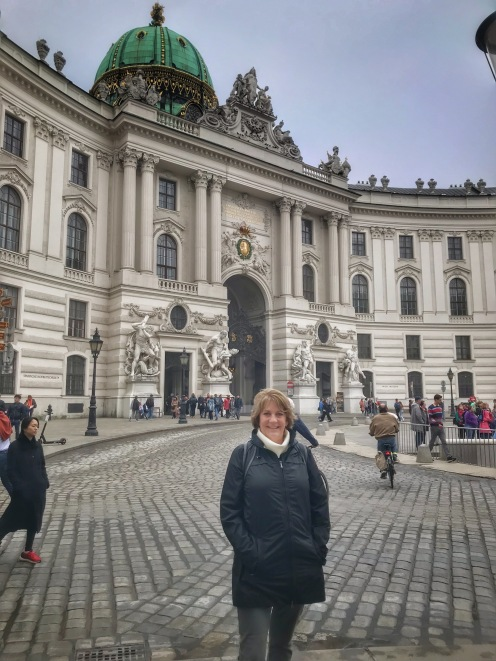 Mom at Hofburg